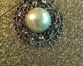 Silver and Pearl Hijab Pin