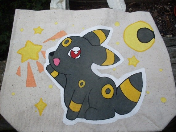 Handpainted Pokemon Umbreon Starcatcher Tote Bag