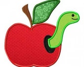 Personalized Apple with Worm Appliqué T-shirt/Onesie