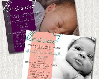 Baby Dedication, Blessing, Christening Invitation: Boy or Girl