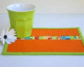 Citrus Mix Quilted Mug Rug - Snack Mat