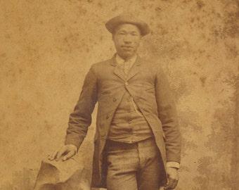 African American albumen Arkansas City Kansas ID'd cabinet card 19th century 1800s