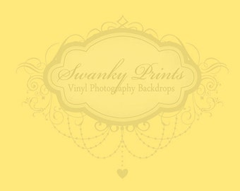 LARGE 8ft x 5ft SOLID Yellow ----- Vinyl Photography Backdrop