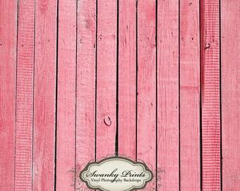 4ft x 4ft Vinyl Photography Backdrop / Light Pink Wood