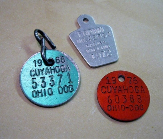 Vintage Dog Tag Rabies Vaccinated 1968 |Dog With Rabies Tag