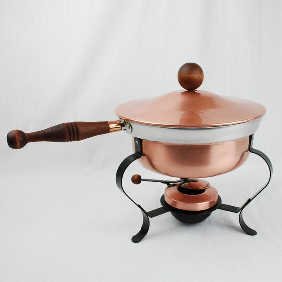 1960s Copper Chafing Dish by Ernest Sohn for Orenson