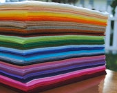 """12"""" x 18"""" Wool Blend, Felt Sheets, 18 pieces, Your Choice of Colors"""