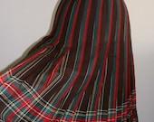 SALE markdown from 75 ... vintage wool skirt ...  kilt skirt WINTER Wool PLAID Vintage cozy ...