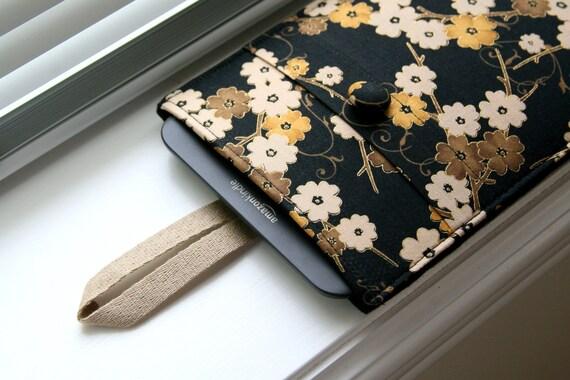 Kindle Case / Kindle Cover / Kindle Sleeve / Kindle Fire HD / Kindle Touch / Kindle Paperwhite- Black Cherry Flowers