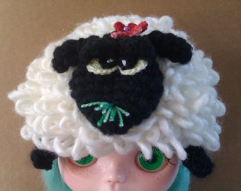 Crochet Pattern - Big Baa Sheep Hat (All sizes - Blythe, Baby & Adult)