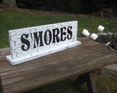 S'Mores Sign, Shabby Chic Sign, Shabby Chic Wedding, Candy Bar Sign, Reception Sign, Wedding Sign, Your Divine Affair