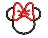 Minnie Mouse Applique, Applique Embroidery Designs (1) Instant Download