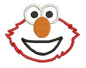 Elmo Applique,  Machine Embroidery Pattern, Sesame Street, Embroidery Applique, Elmo (15) Instant Download