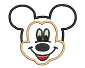 Mickey Mouse Applique Embroidery Design, Mickey Mouse, Mickey Head, Mickey Face, Embroidery Applique (28) Instant Download