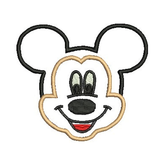 Mickey Mouse Face Cake Stencil