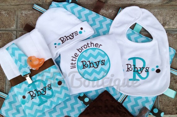 Deluxe 6 piece Infant Gift Set new baby boy or girl great shower gift for a new mom