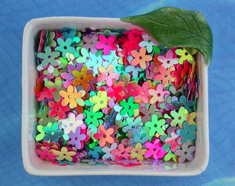 Sequins, Flower Sequins, Multi Colored Sequins, Mixed Sequins, Flowers MS-004