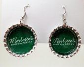 Bottle Cap Earrings True Blood Merlotte's Bar and Grill