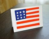 American Flag Notecard