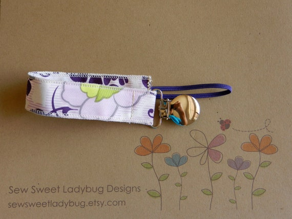Soothie Fabric Pacifier Clip in Art Gallery Fabric by Pat Bravo Sweet Melody Girl Pacifier Clip Ready to ship