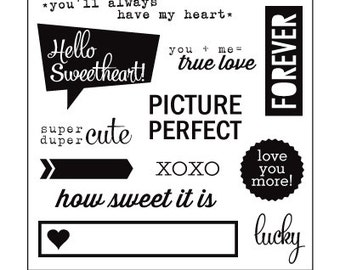 Elle's Studio Clear Photopolymer Stamps - Hello Sweetheart -- MSRP 10.00
