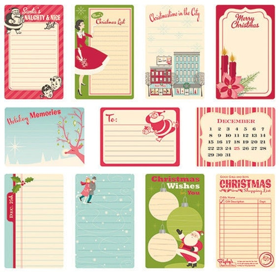October Afternoon Holiday Style Journal Cards