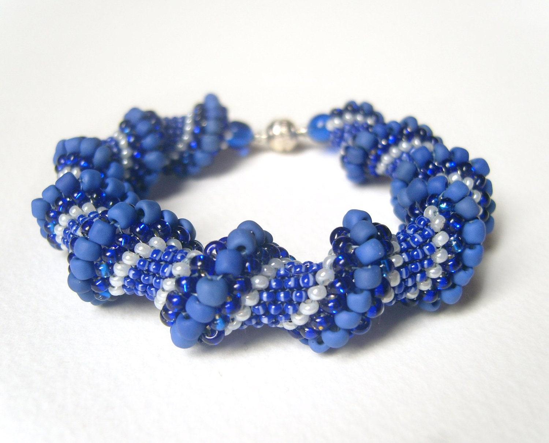 beaded rope bracelet bead woven bracelets spiral bracelet