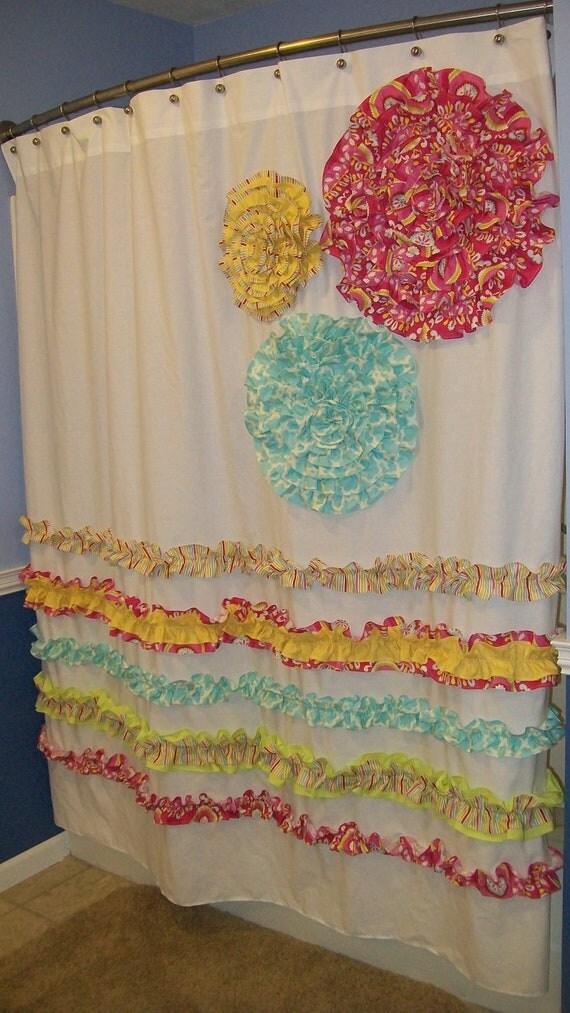 Items Similar To Shower Curtain Custom Made Dena Designs Free Spirit Kumari Garden Designer