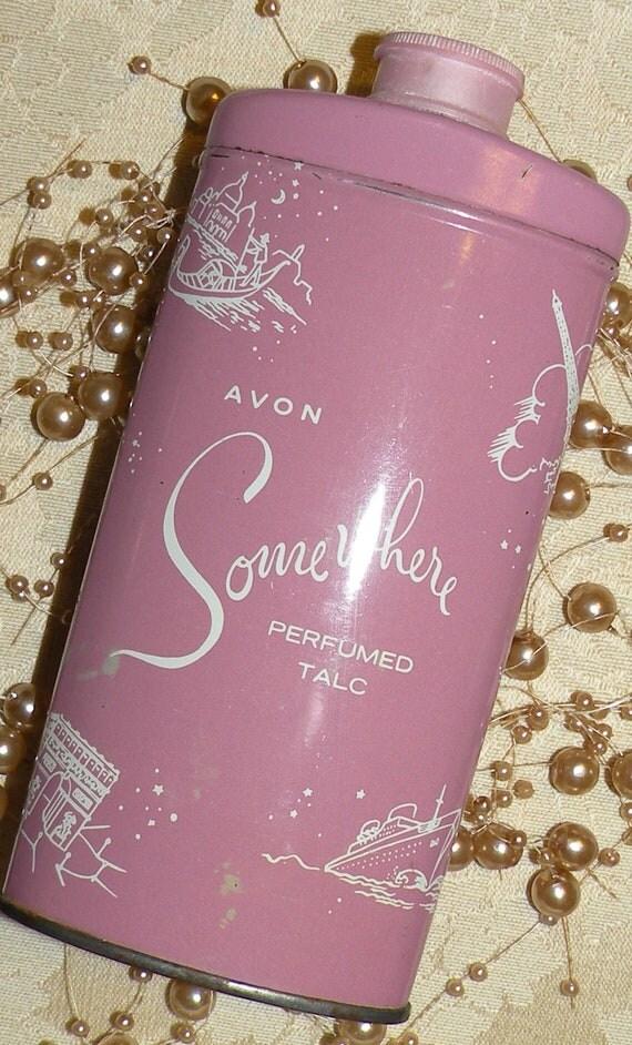 "50% Off SALE AVON ""Somewhere"" Perfumed Talc"
