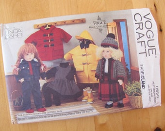 """Uncut Vogue Sewing Pattern 8556 - Vogue Craft - 18"""" Coll Clothes"""