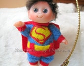 """Baby in  """"Superman""""  costume  cute baby doll, decoration for home, for Halloween , Christmas, collectables,"""