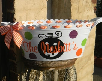 Halloween Tub Candy Bucket