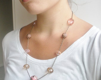 Pinks and Browns Necklace