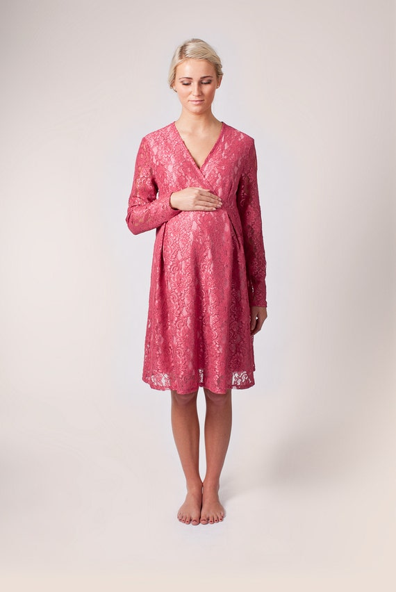 items similar to baby shower maternity pink dress  size m