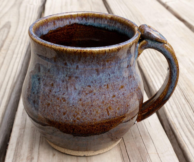 Handmade Ceramic Coffee Mug Tea Cup Brown Made By Throwingshop