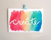 Create wall art watercolor painting home decor craft room artist designer art