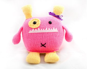 Penelope the Hand Knit Stuffed Amigurumi Monster