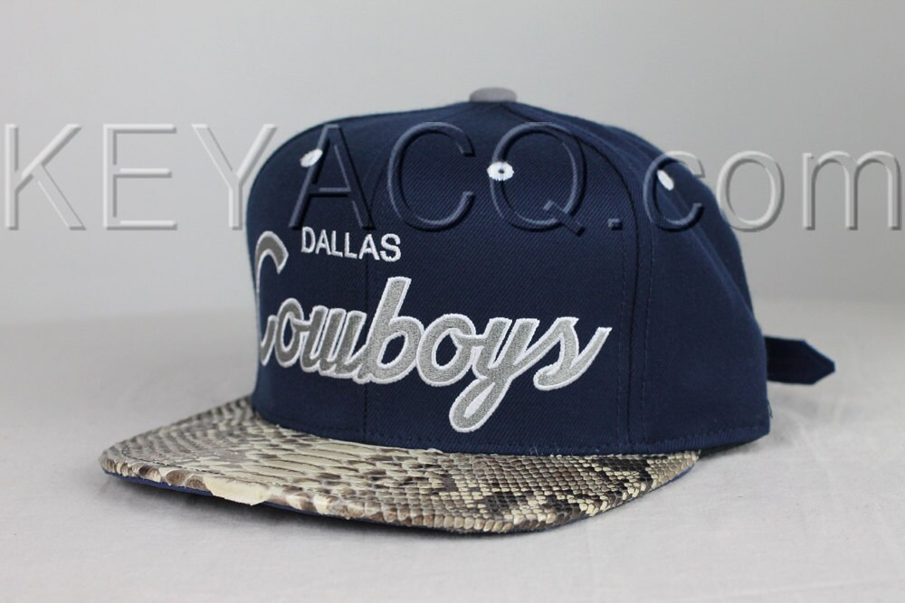 7c58c61fe No.196 — Dallas Cowboys with Authentic Python Belly and Dark Blue ...