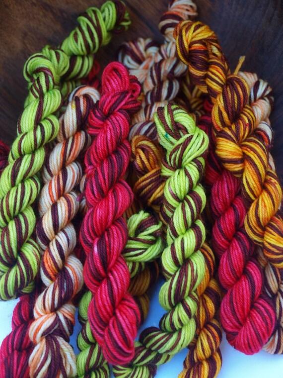 Set of 4 Minis, Hand Dyed Fingering/Sock Yarn