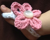 Crochet Cotton Barefoot Baby Sandals (Made to Order)