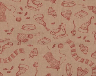 Winter Fabric, Winter Fun by Connecting Threads, Winter Fabric, Sleigh Fabric, Children Fabric, Skate Fabric, 01524