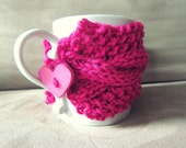 Valentines Day Gifts Girlfriend Gift Idea Heart Coffee Cup Cozy Pink Mug Warmer Unique Romantic Sweetest Day Present for Women Accessories