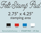 "Felt Rubber Stamp Pad - Etsy Design Image Area 2.75"" x 4.25"" - Regular Size Stamp Pad"