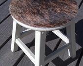 cowhide step stool