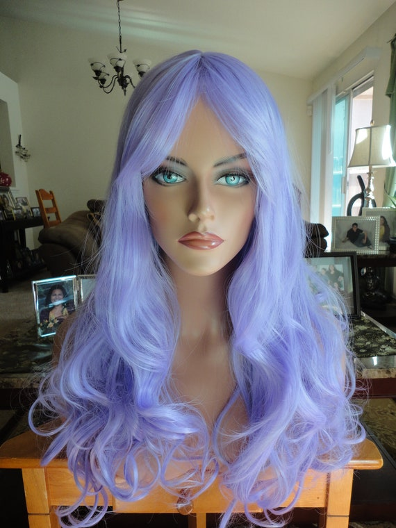 Sale - Autumn Special - Halloween Sale - Priority Shipping - Long Wavy Wig - Appox. 25 Inches - Lavendar Kisses