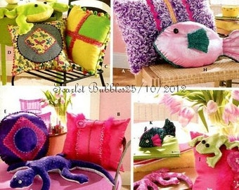 Pillows and Bean Bag Animals Pattern Teen Home Decorating