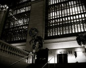 """20x30 inch Canvas Original Black and White Photography """"Restaurant at Grand Central Station"""""""
