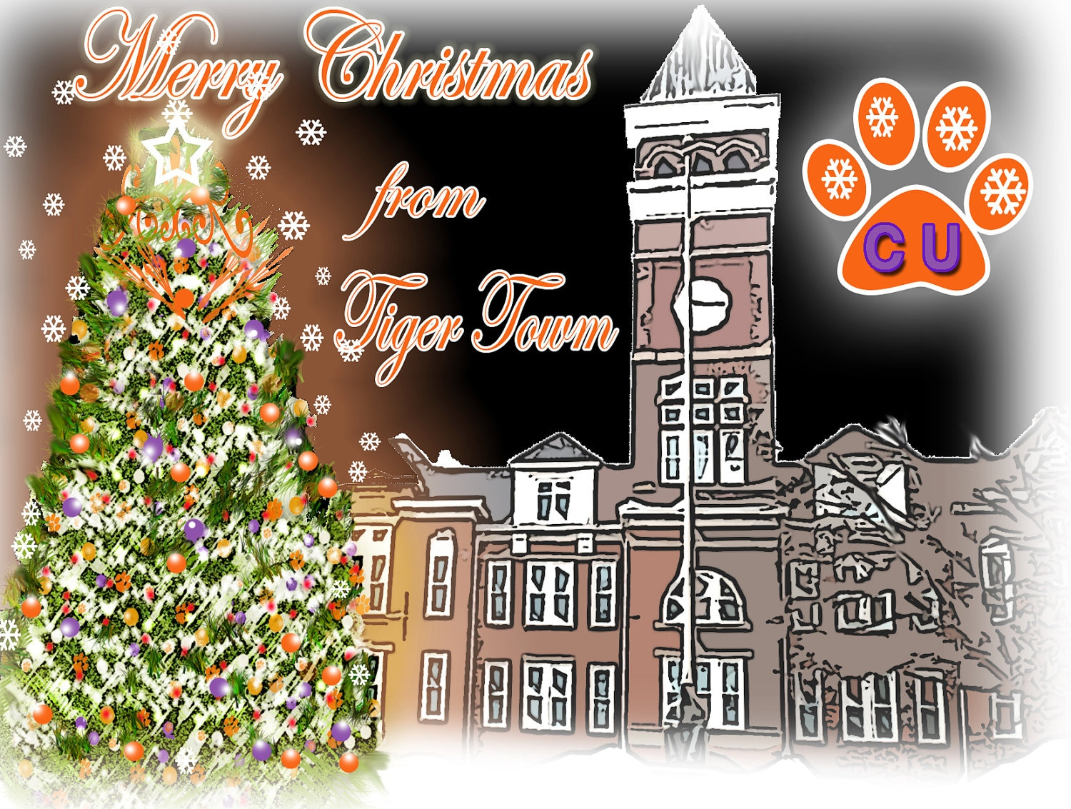 Clemson Christmas From Tiger Town By SonnyBuds On Etsy