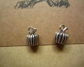 10pcs 14x11mm antique silver pumpkin fruit charms pendant  C3567