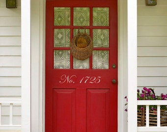 House Numbers for Front Door- Custom Vinyl Decal by Memories in a Snap